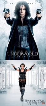Underworld: Awakening  / Resident Evil: Afterlife comparison