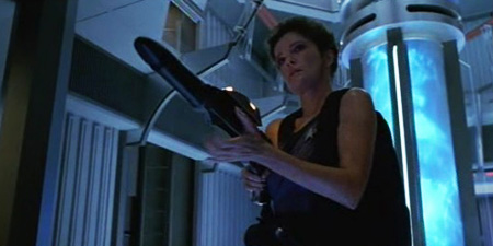 Janeway goes the full Ellen Ripley